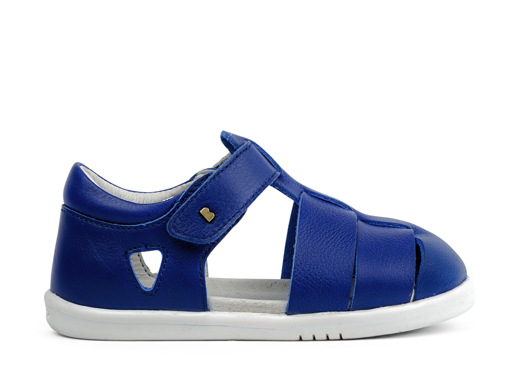 Bobux 'Tidal' I-Walk Sandal in vibrant Blueberry - fast-drying leather