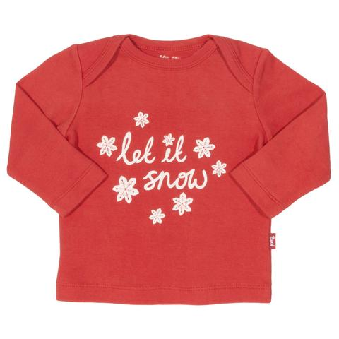 Kite - 'Let it snow' long sleeved t-shirt - 100% organic cotton