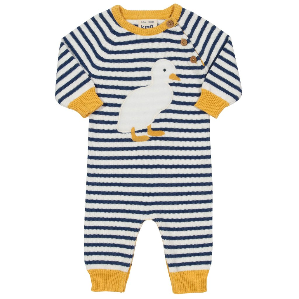 Duckling Knit romper - Newborn - 100% organic cotton