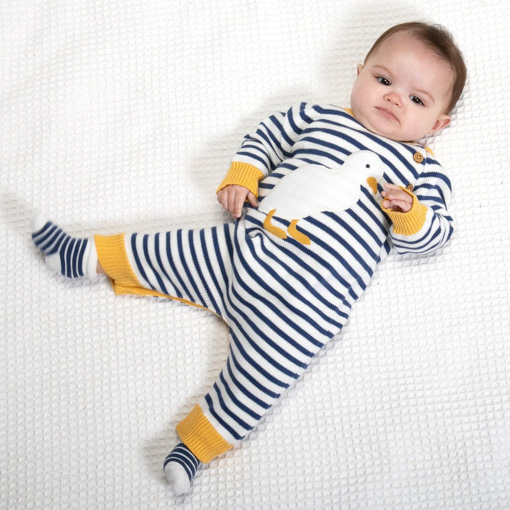 *SALE* Kite Organic Cotton Duckling Knitted Romper 3-6 Months