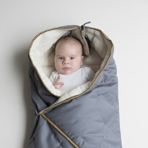 Wrap Blanket - Blue Spruce - organic cotton