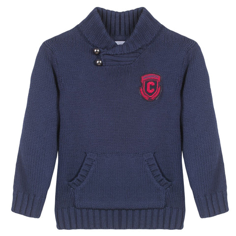 Boys Knitted Jumper In Navy