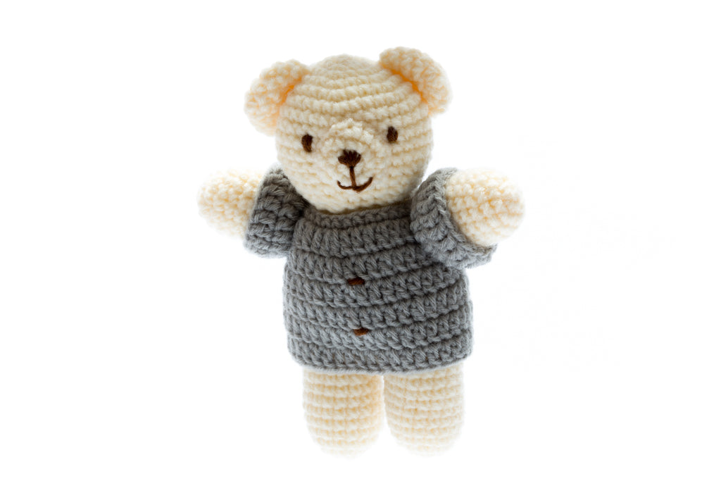 Chunky Crochet Bear - Ideal Newborn Soft Toy