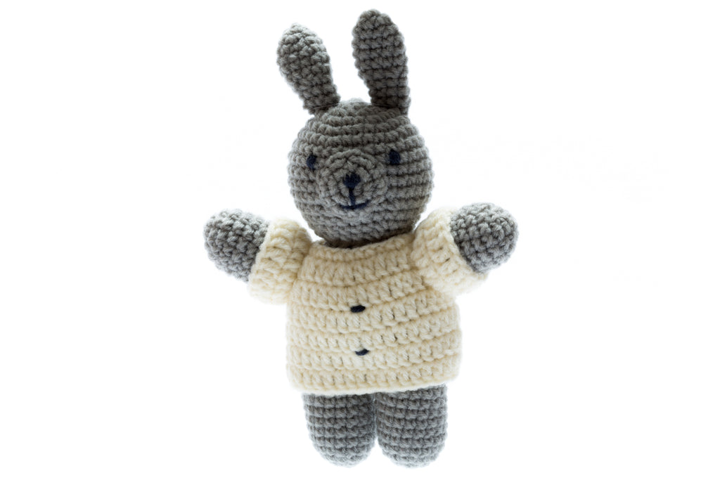 Chunky Crochet Bunny - Ideal newborn baby soft toy
