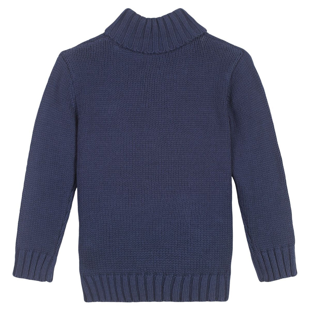 3 Pommes - Boys Knitted Jumper In Navy