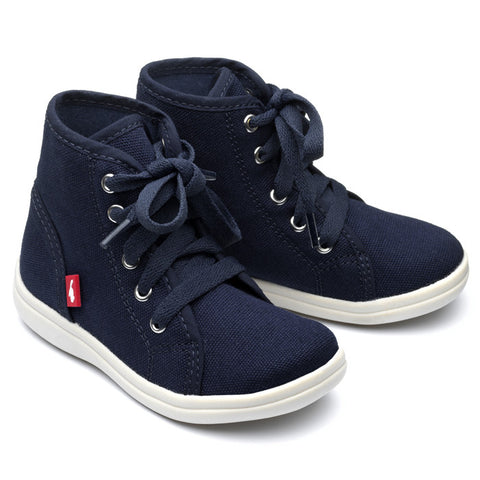 Unisex 'Hunter' Navy Canvas Hi-Top
