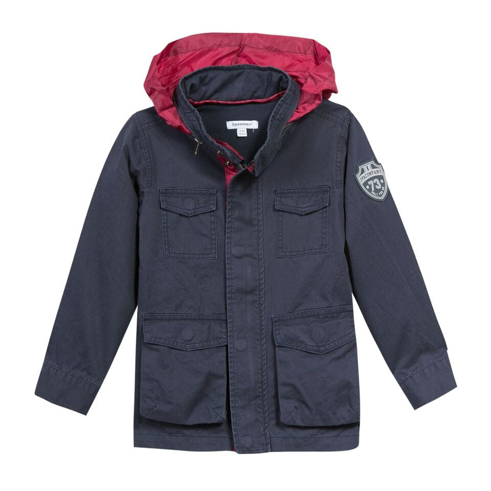 3 Pommes - Navy Canvas Jacket