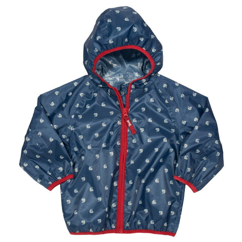 Puddlepack Rain Jacket With Sailboat Print