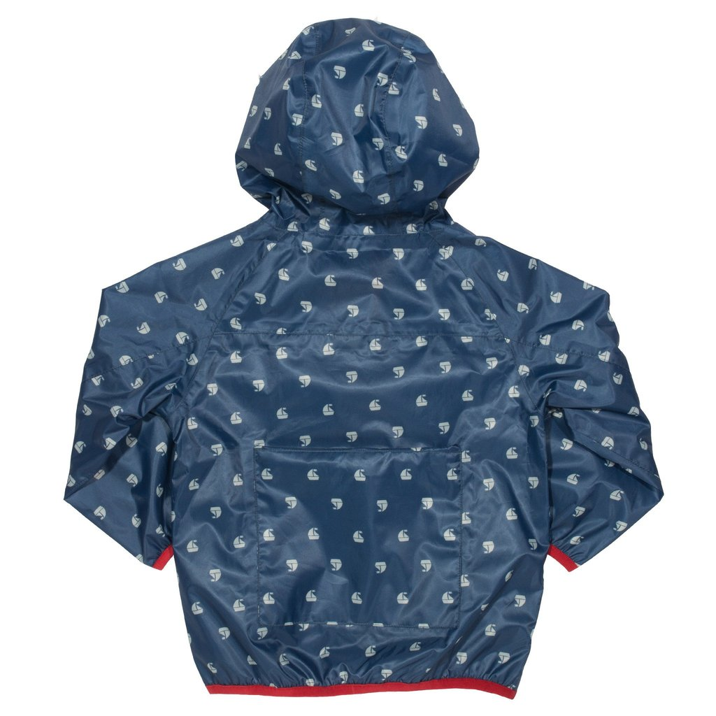 Puddlepack Rain Jacket With Sailboat Print, 2-3 & 3-4y