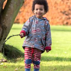 Kite Splash Coat - Transport print - Beep Beep!