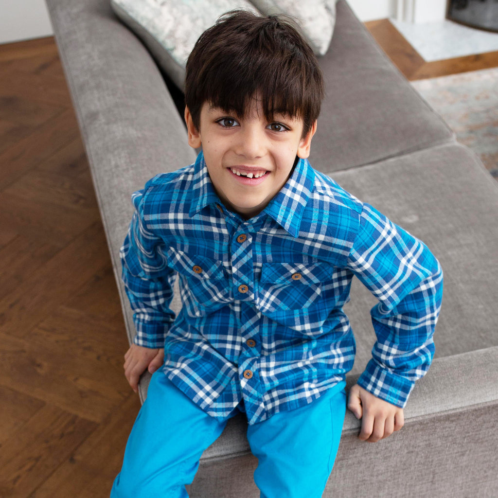 Boy's Plaid Shirt  - Kite - 100% organic cotton