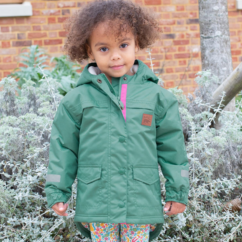 Kite GO Coat - Spruce Green with Pretty Pony quilted lining