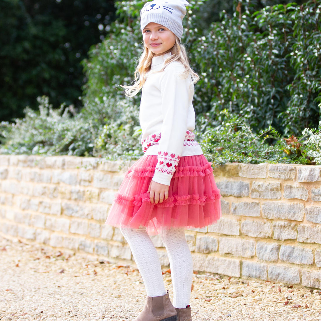 Fairy Skirt in Autumn Rose Pink, perfect with the Nordic Heart jumper