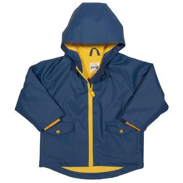 Classic Navy & Yellow unisex Splash coat, by Kite