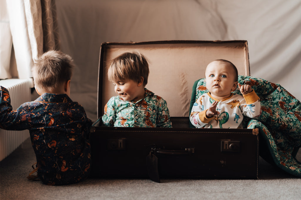 Unisex Pyjamas by Lola + Blake in 3 fabulous prints, Dino, Woodland & Jungle