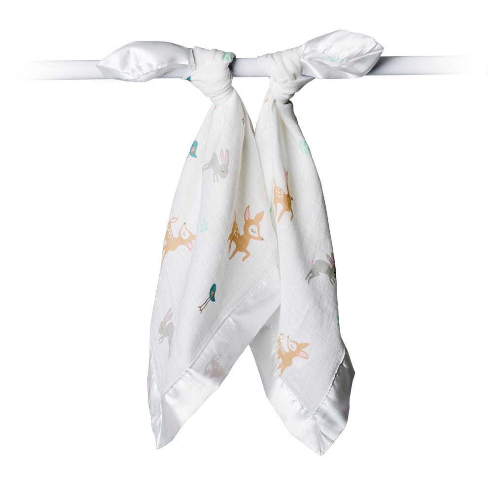 My little Lulujo Security Blanket, 2 pack Little Fawn print