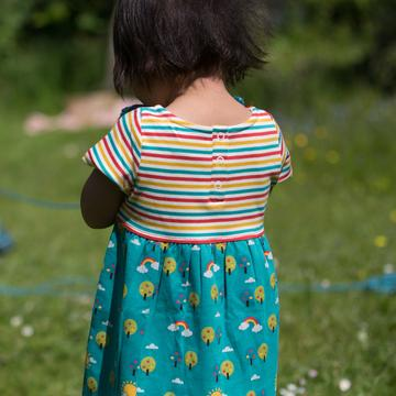 Beyond The Rainbow Easy Peasy Dress - Little Green Radicals