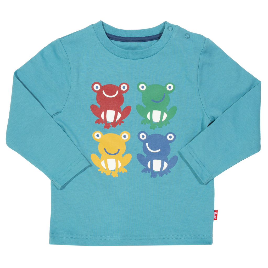 Froggy T-shirt by Kite in Delphinium Blue