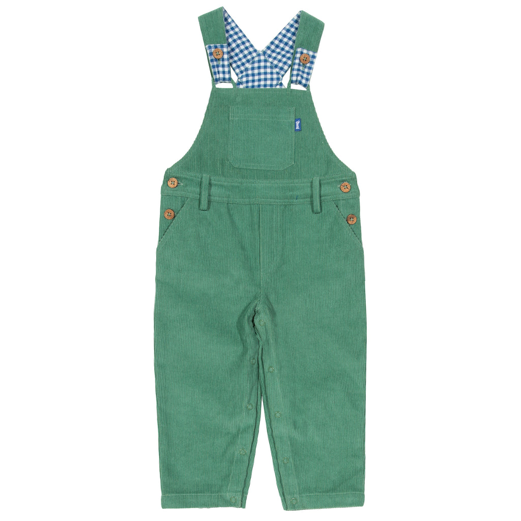 Kite Cord dungarees - Spruce Green Corduroy
