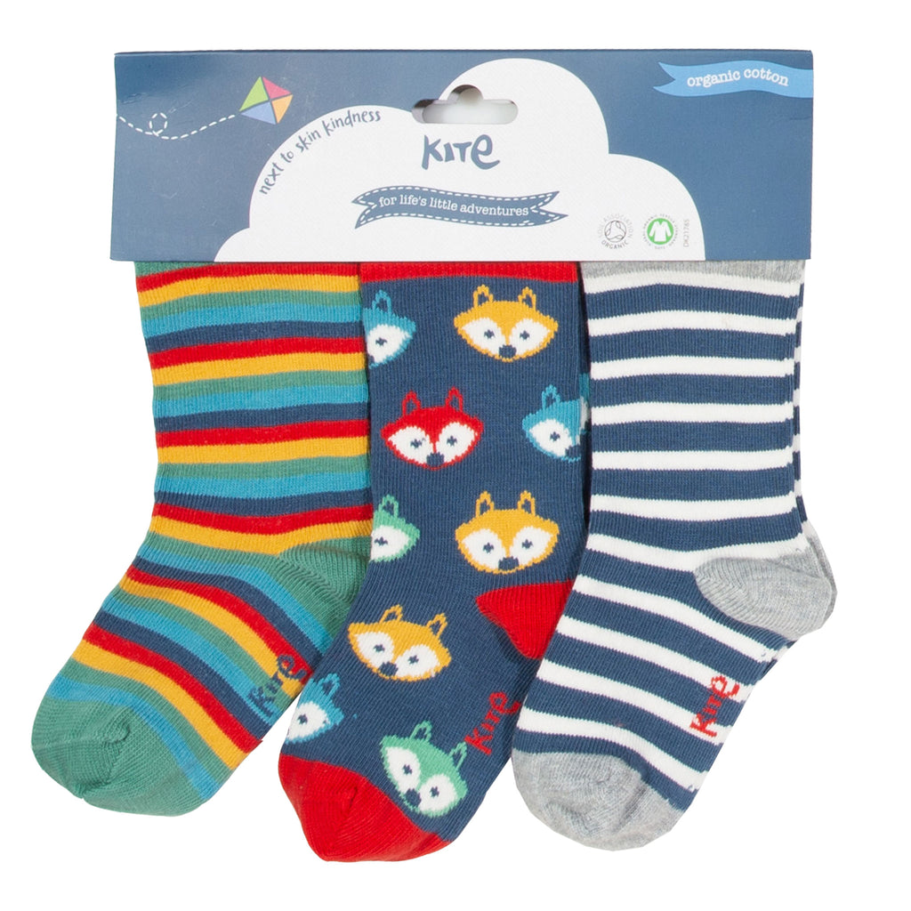 Foxy socks by Kite - 3 pack -Super soft organic cotton