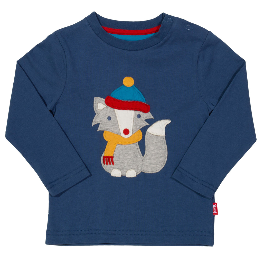 Arctic Fox- long sleeved t-shirt from Kite in organic cotton
