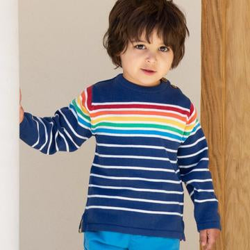 Retro rainbow jumper by Kite