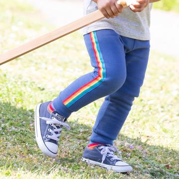 Rainbow stripe joggers by Kite