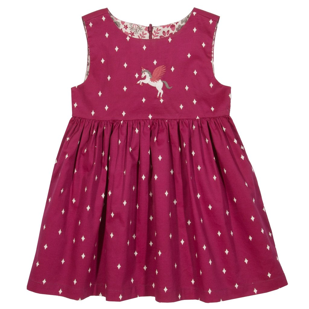 Kite - Pegasus Party dress - reversable - 100% organic cotton