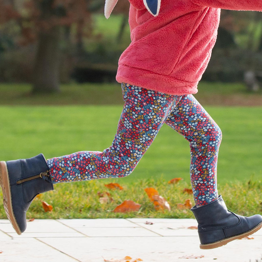 Kite Mini berry ditsy leggings