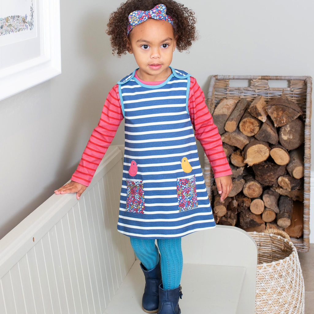 Kite Birdy pinafore dress