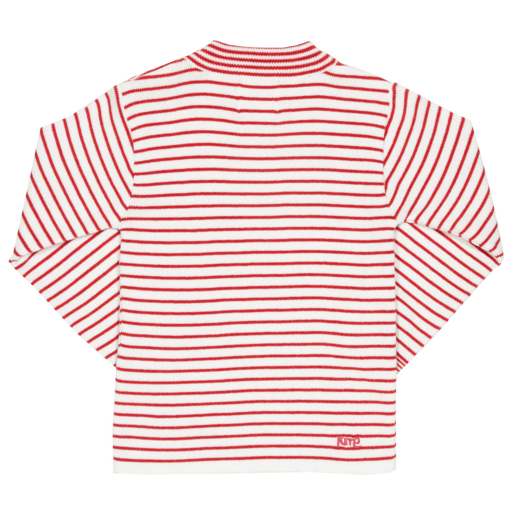 Stripy Heart knitted jumper - Kite - 100% organic cotton