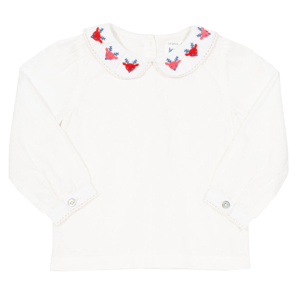 Reindeer Blouse - Kite - 100% organic cotton