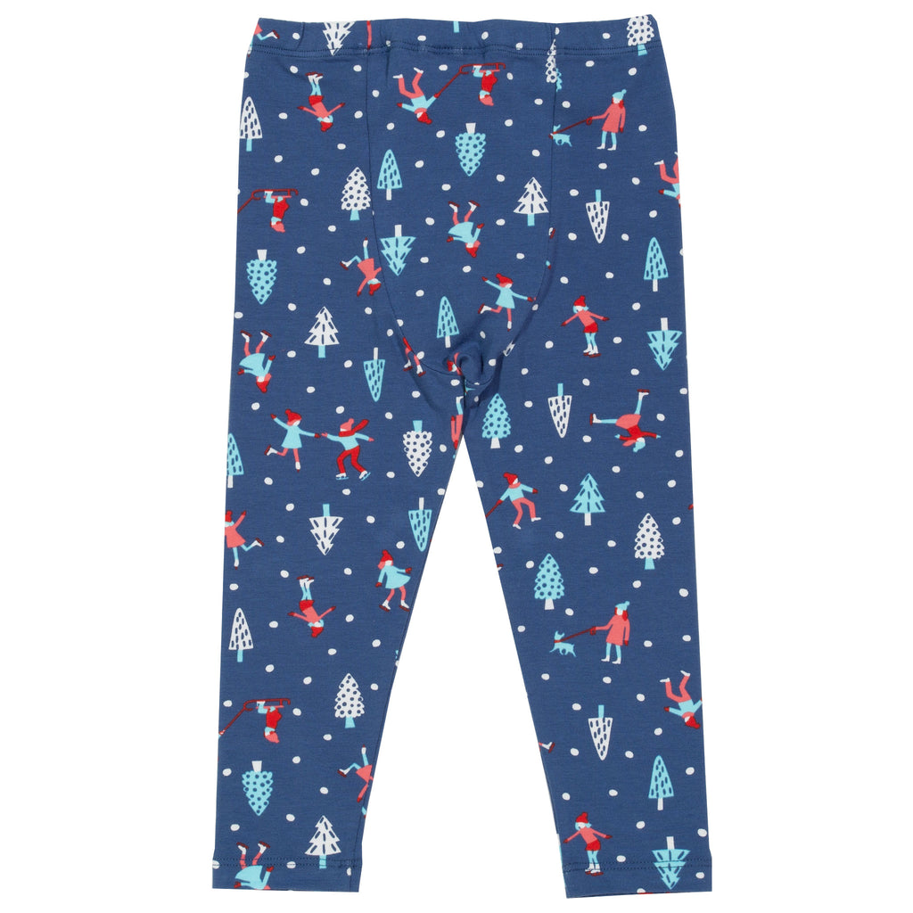 Skate Time leggings - Kite - organic cotton with elastane for extra stretch