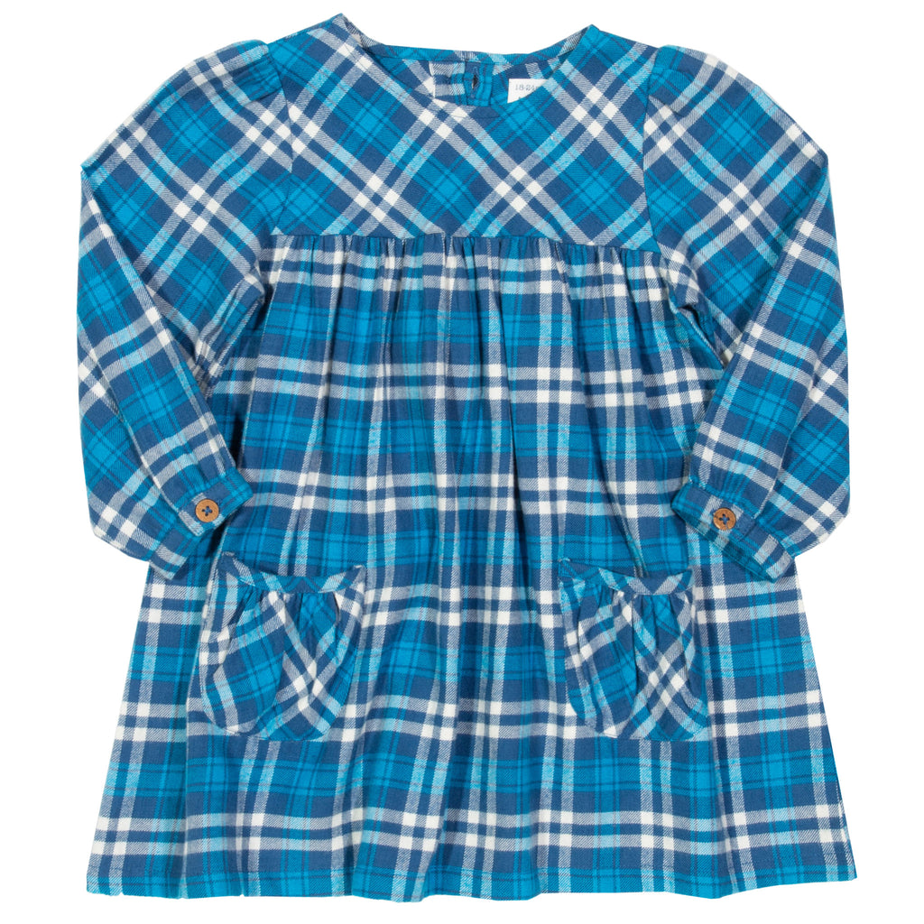 Plaid Party Dress - in Bluejay gingham -  Kite