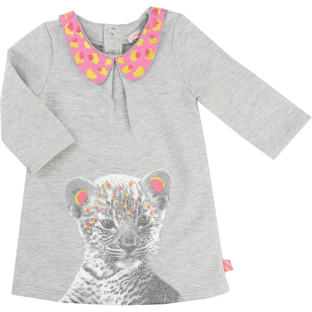 Grey Baby and Toddler Dress With Animal Print