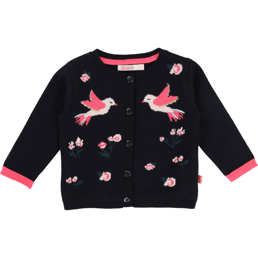 Billieblush - Knitted Toddler's Cardigan With Bird Design, 18m