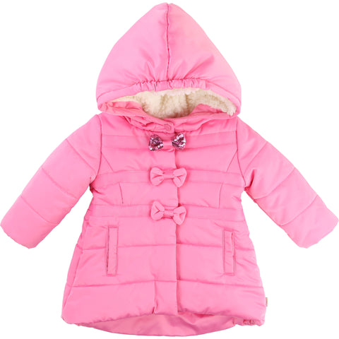 Baby and Toddler Girls Pink Waterproof Coat