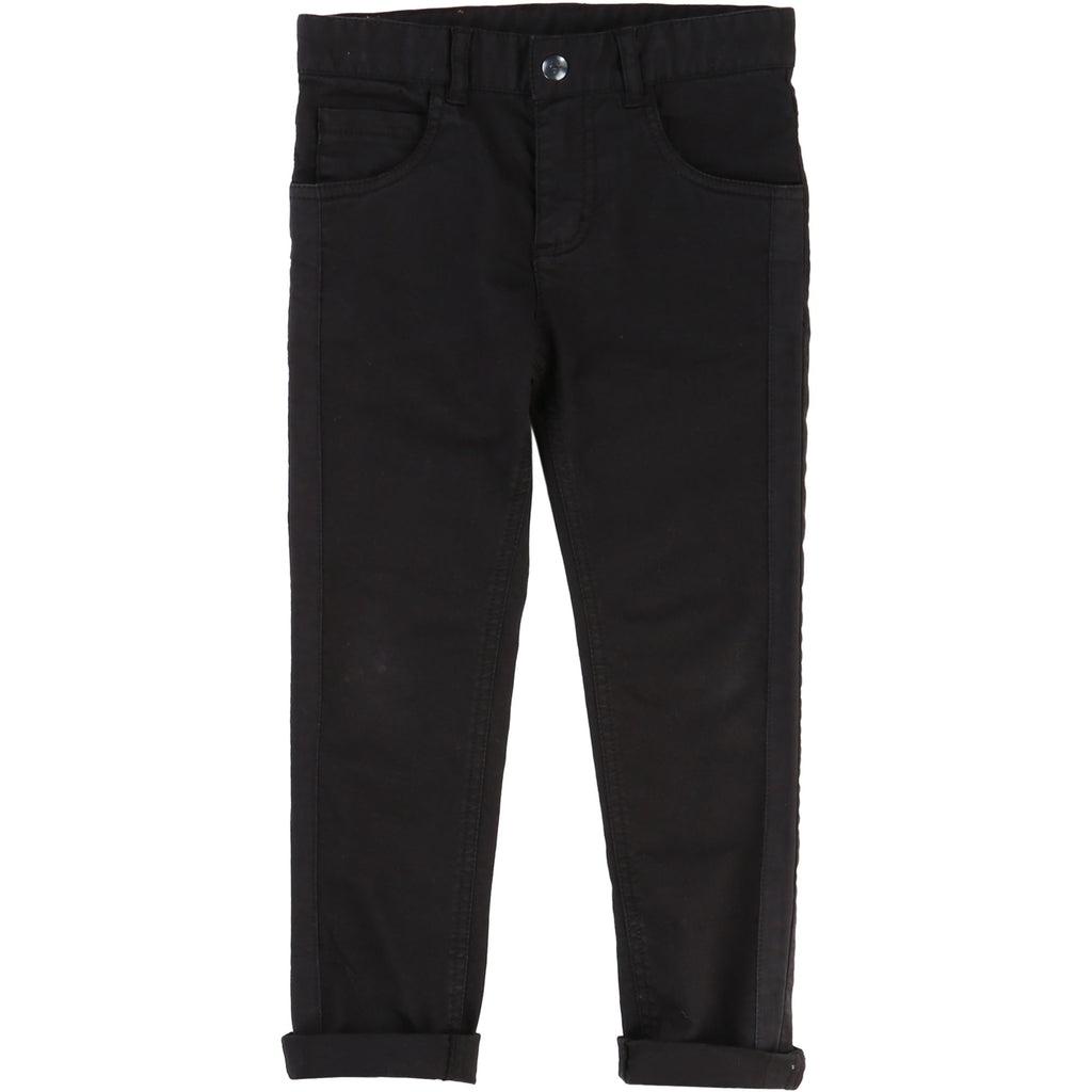Classic Black Cotton Trousers