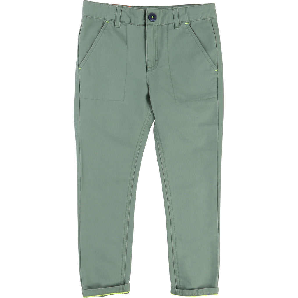 Billybandit - Khaki Green Chino Trousers, 12y