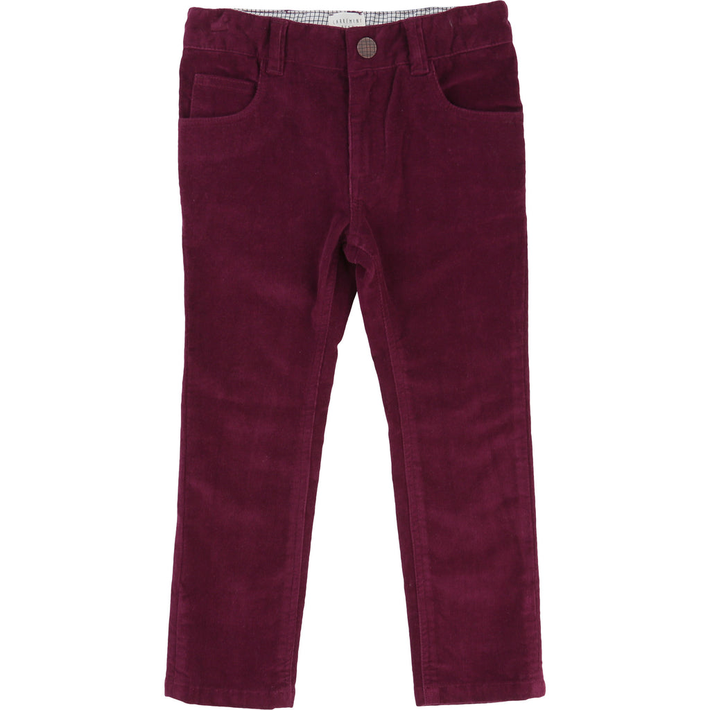 Carrement Beau - Burgundy Corduroy Trousers,12y