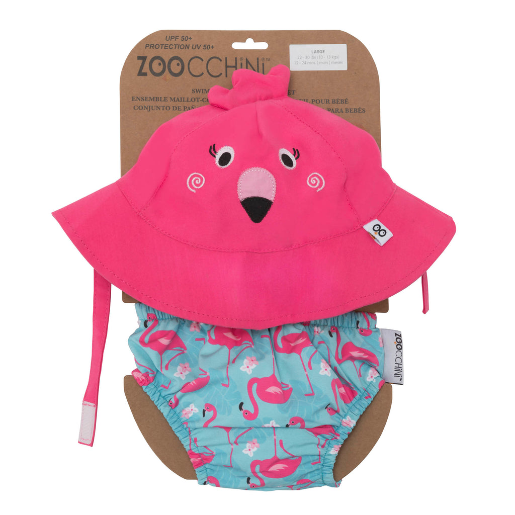 Baby swim trunks and sun hat set - four styles