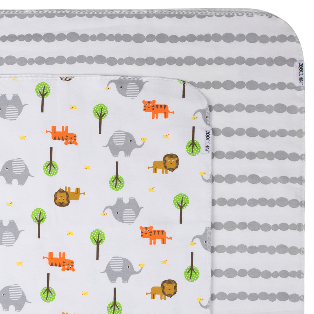 Baby Flannel Receiving Blanket - 2 pack - 100% cotton