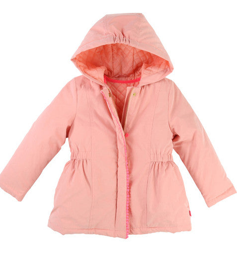 Girls Apricot Parka Coat With Detachable Gilet