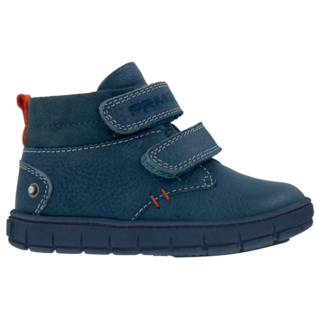 Boys Navy Blue Boot With Red Detail
