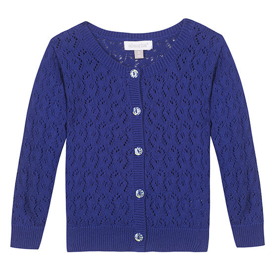 Absorba Dark Blue Fine Knit Cardigan 4y