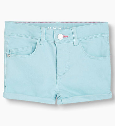 Sky Blue Denim Shorts