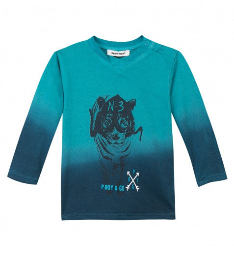 Baby Boy Blue Ombre Tiger T-Shirt