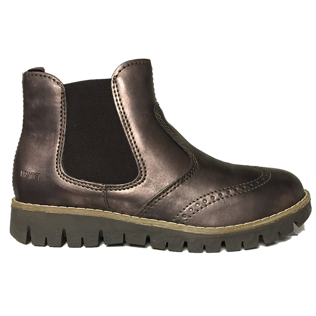 Metallic Bronze Chelsea Boot