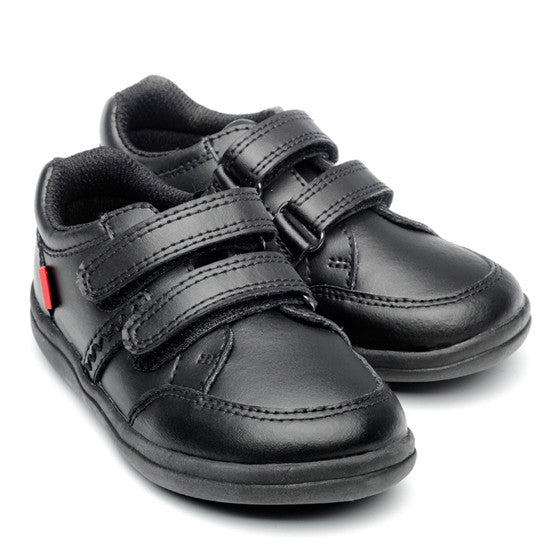 Cameron Black Leather Boys School Shoes by Chipmunk