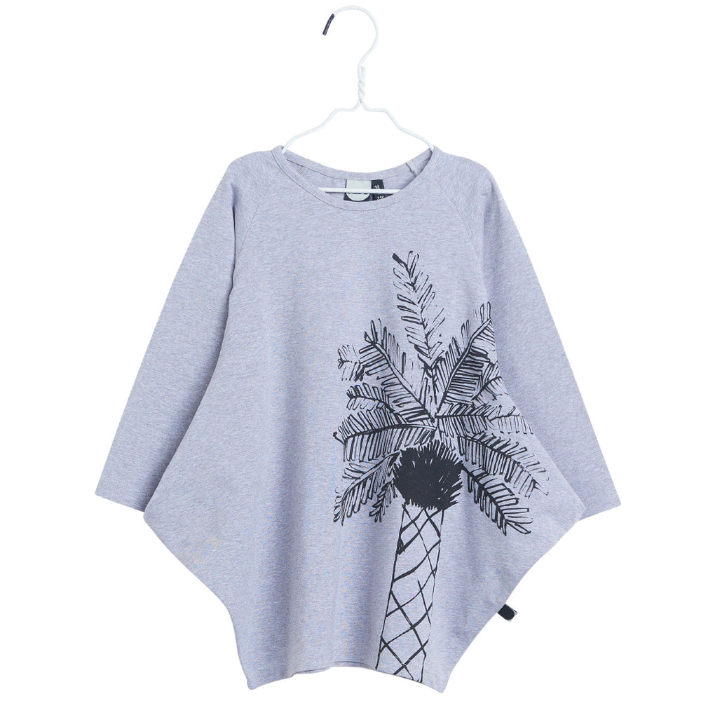 Melange Grey Long Sleeved 'Kanto' Dress With Print
